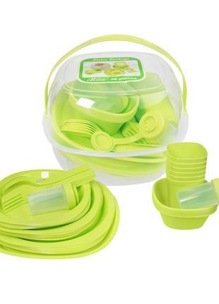 Набор пластиковой посуды для пикника 48 предметов.