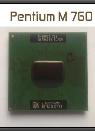 Процессор Intel Pentium M 760 ноутбук 478 2,0Ghz 533 MHz SL7EM...