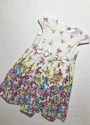 Детское платье tu ( ту 4-5 лет 104-110 см оригинал разноцветное)