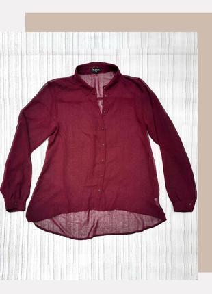 Женская блуза цвета марсала
