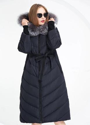 🌺 роскошный длинный зимний пуховик 🌺 пуховое пальто люкс  basi...