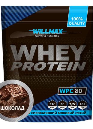 Протеин сывороточный Willmax Whey Protein 80 % 920 г шоколад
