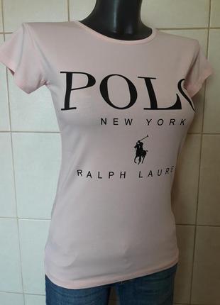 Очень красивая,качественная пудровая футболка,стрейч,турция,un...