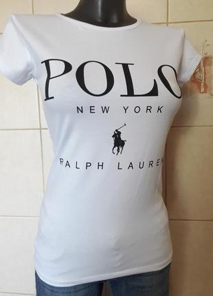 Очень красивая,качественная белая футболка,стрейч,турция,une s...