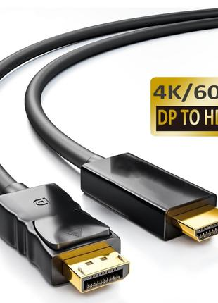 Display Port к HDMI - Кабель, Шнур 1 метр DP hdmi 60 hz 4K