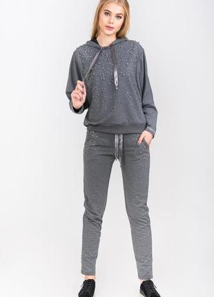 Спорт шик!модный и оригинальный серый  женский костюм binka,с ...