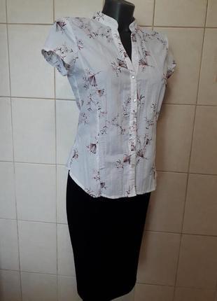 Красивая,стильная,праздничная,приталенная рубашка с вышивкой,w...