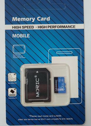 Карта памяти Moric Micro SD 16 ГБ новая.