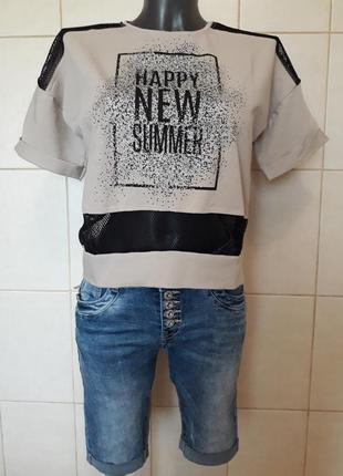 Мега-красивая трендовая,модная нюдовая футболка,с прозрачными ...