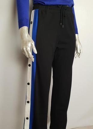 Трикотажные брюки/штаны с лампасами на кнопках eksept p.m