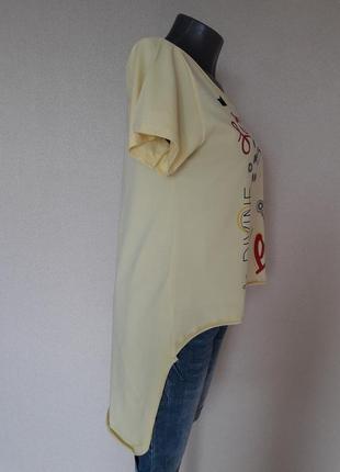 Мега-крутая,трендовая лимонная футболка с длинной спинкой pink...