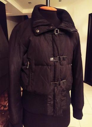 Зимняя теплая куртка пуховик зима англия бомбер