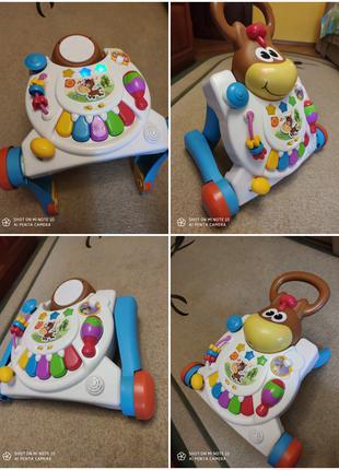 Развивающая игрушка Каталка Ходунки Игровой столик