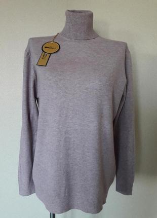Мега-красивый,мягкий,9%шерсти,женственный лиловый свитерок mil...