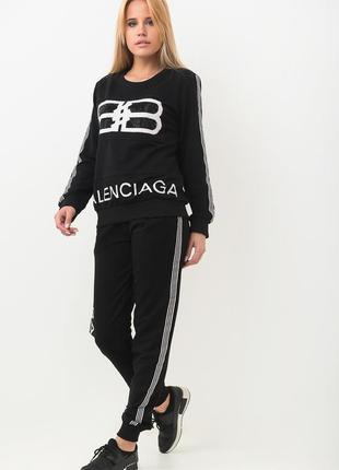 Спорт шик!крутой стильный костюм balenciaga: толстовка и брюки