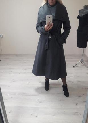 Мега-стильное,шикарное,трендовое,теплое(60%шерсти), деми пальт...
