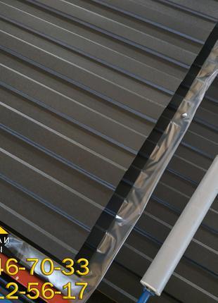 Профнастил матовый черного цвета Ral 9005, профнастил стеновой С8