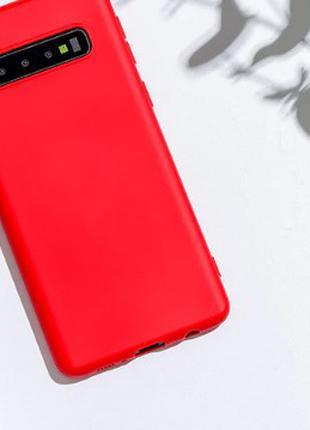 Мягкий силиконовый чехол для Samsung Galaxy S10