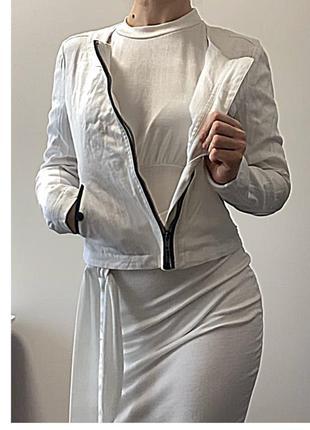 Белая куртка деним {польша} бренда top secret