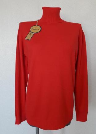 Мега-красивый,мягкий,9%шерсти,женственный  красный гольф,milan...