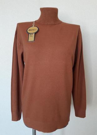 Мега-красивый,мягкий,9%шерсти,женственный горчичный свитерок,m...