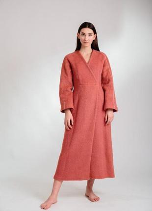 Эксклюзивное пальто люкс из шерсти ламы от дизайнера Oppido