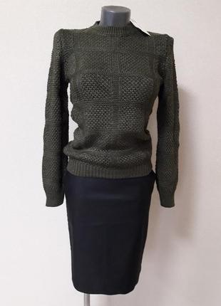 Красивый,стильный,элегантный,теплый,30%шерсти,вязаный джемпер ...