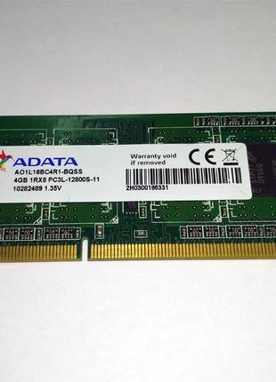 Память для ноутбука ADATA SoDIMM DDR3L-1600 PC3L-12800S 4GB