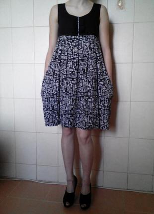 Красивое и интерестное платье mango,с завышенной талией и боко...