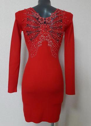 Вечернее коктейльное,сексуальное платье-мини,с эффектным декор...