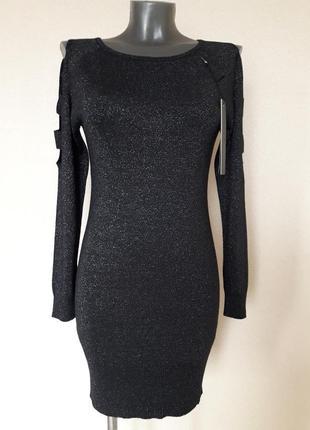 Эффектное,вечернее,праздничное,качественное,люрексовое платье-...