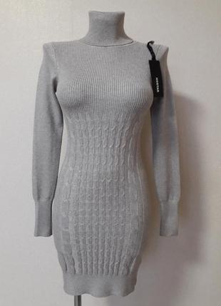 Распродажа!уютная,теплая,68%хлопка,20%кашемира,короткое платье...