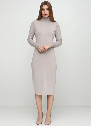 Комфортное,уютное,женственное,качественное кремовое платье-гол...