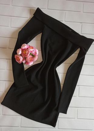 Платье misspap black, коктейльное платье чёрное, вечернее плат...