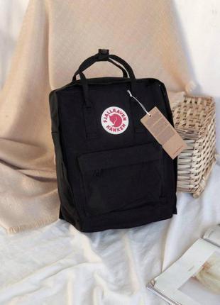 Чёрный вместительный рюкзак kanken. оригинальный рюкзак-сумка ...