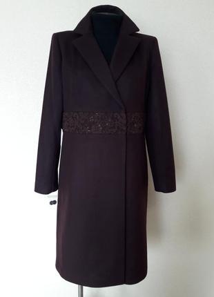 Шикарное,элитное,статусное,брендовое амарантовое пальто armand...