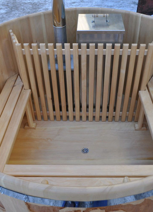 Купель с подогревом воды дровами