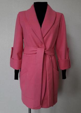 Шикарное,яркое,эффектное,модное молодежное,статусное пальто-бо...