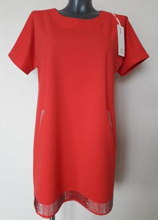 Новинка сезона!красивое,эффектное,модное,просторное платье-тра...