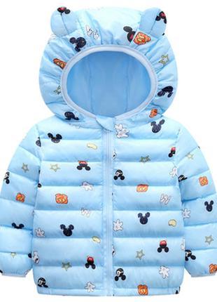 Демисезонная куртка 4-7лет ушки