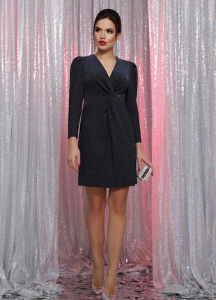 Платье женское. Цвет: черный-синий