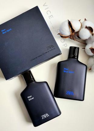 Zara silver blue spiritмужские духи парфюмерия туалетная вода ...