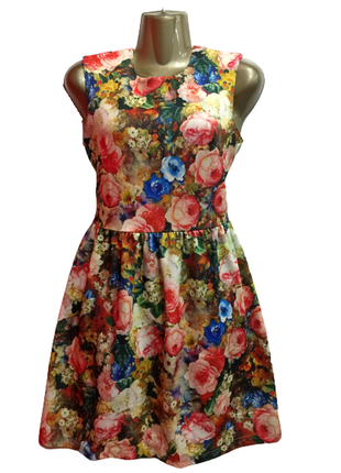 🔥платье на новый год 🎄❗️ платье с цветочным принтом, новое ❗️❗️❗️