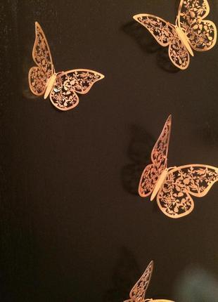 Декор стен окон бабочки ажурные 3D