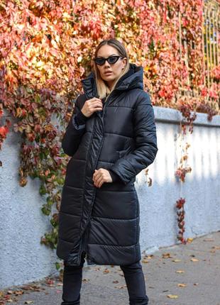 Куртка женская зима черная