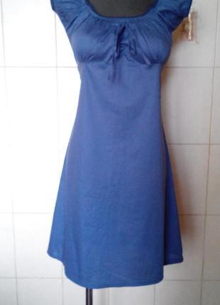 Красивое трендовое,хлопковое  платье millenium,дымчато-синего ...