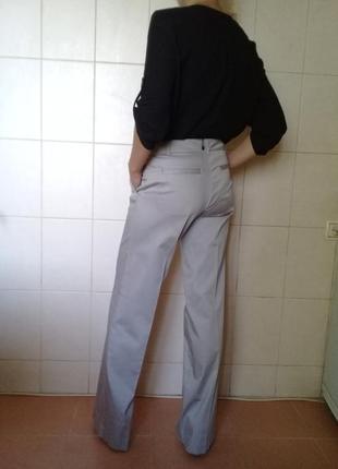 Стильные,деловые, базовые  котоновые брендовые прямые брюки-тр...
