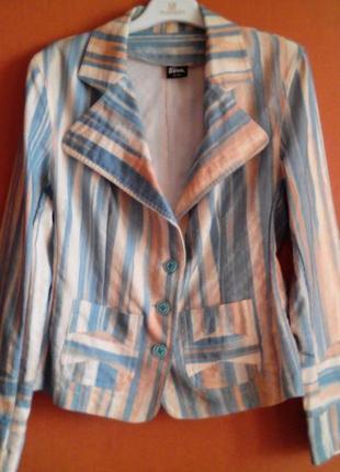 Яркий красочный пиджак-жакет elize,турция