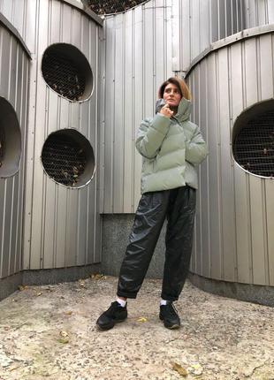 Куртка серая зимняя эксклюзив дизайнерская
