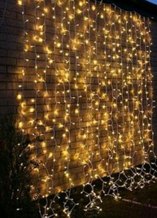 Герлянда обычная Гирлянда LED штора водопад  Шары Уличная
